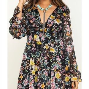Free People Closer to the Heart Floral Mini Dress